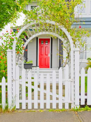 add a front yard fence for curb appeal