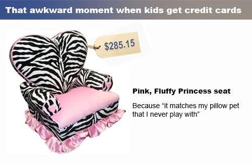 pink plush princess chair