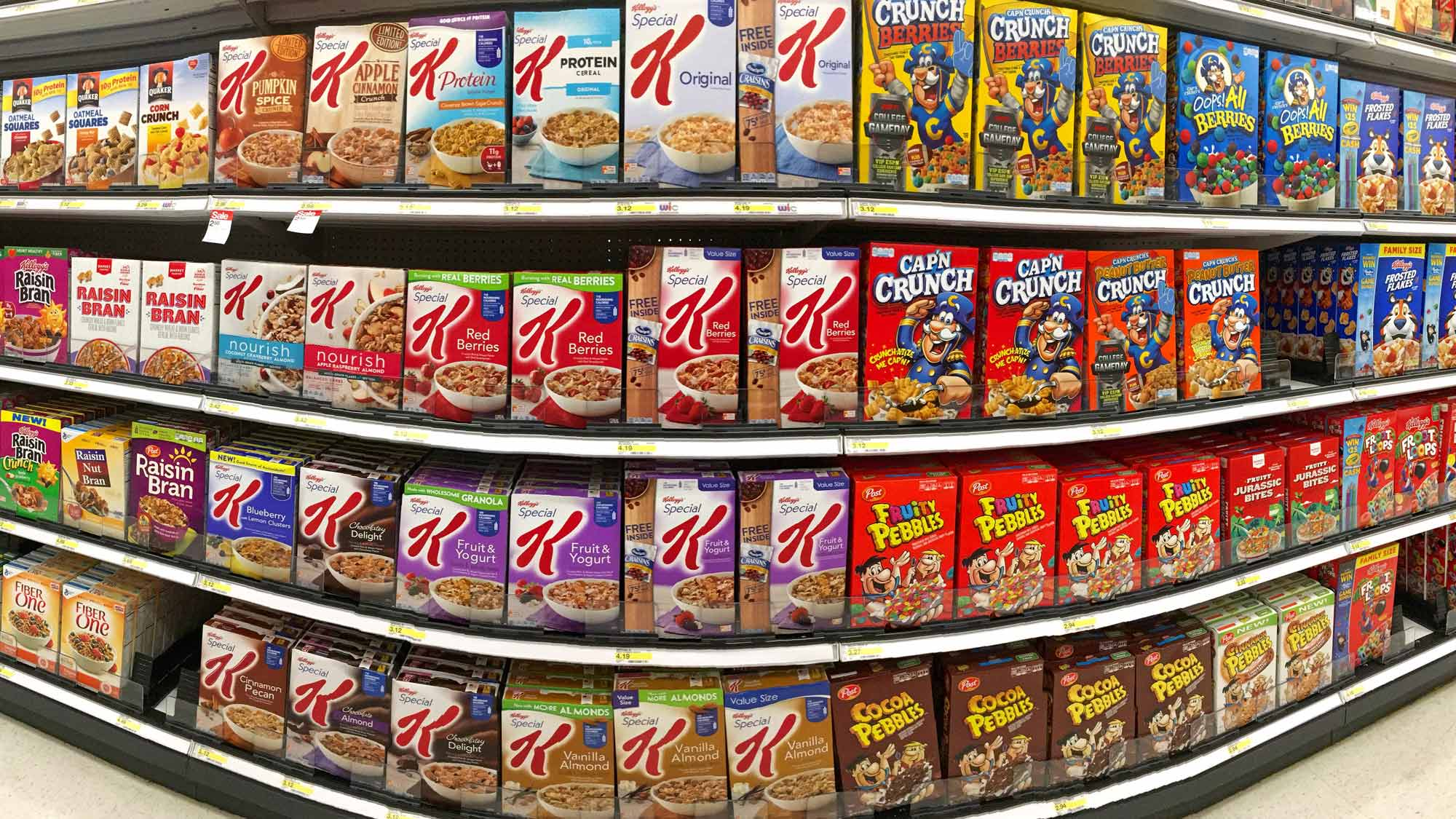 Image result for supermarket cereal aisle